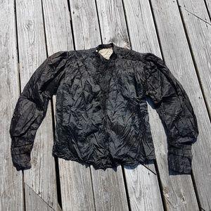 Victorian Mourning Blouse Antique 1800s Jacket VTG
